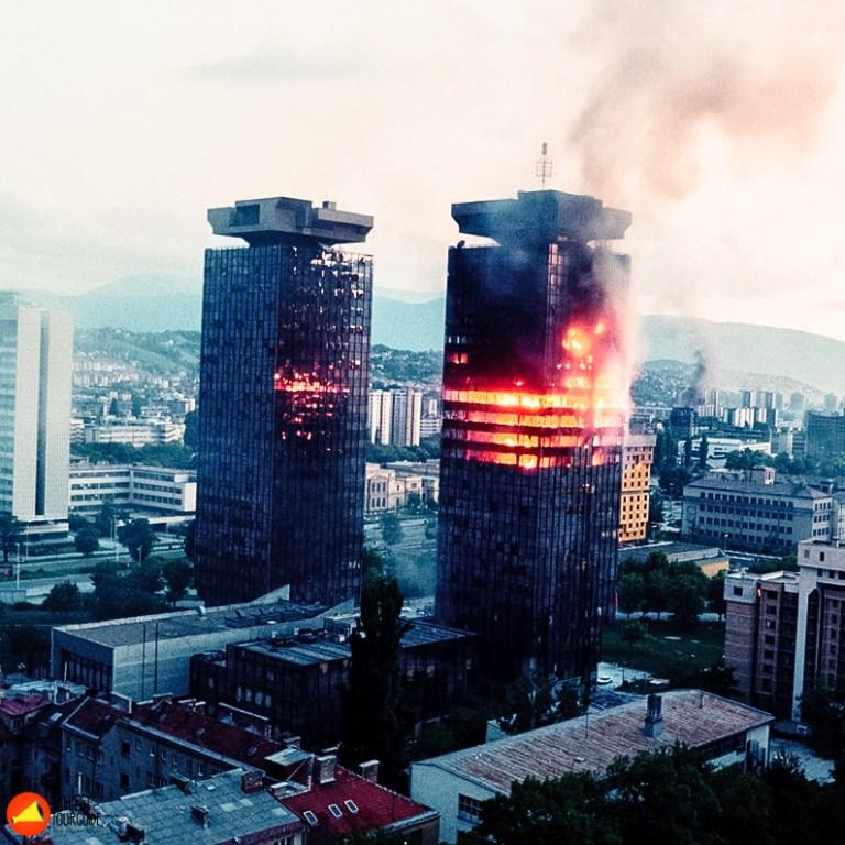Sarajevo burning