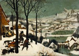Pieter Bruegel the Elder's painting Hunters in the Snow.