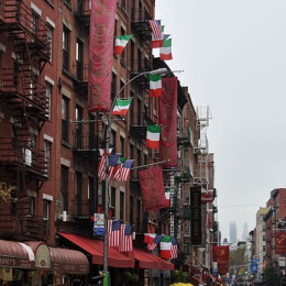 Little Italy neighborhood of New York City.
