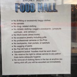 Former dress code of Short North Food Hall.