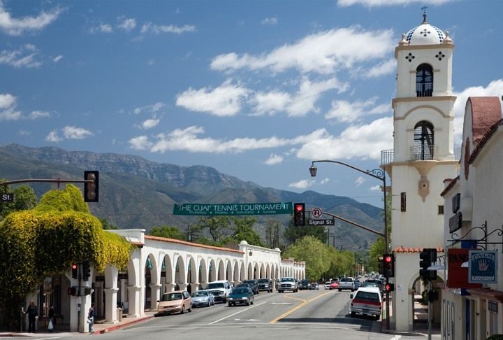 Downtown Ojai, CA by day.