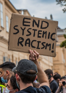 Protest sign at a Black Lives Matter demonstration